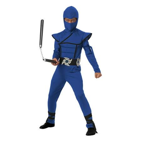 Boys Blue Stealth Ninja Halloween Costume - Halloween Belle