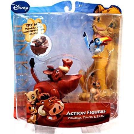 Disney The Lion King Pumbaa Timon Zazu Action Figure 3 Pack