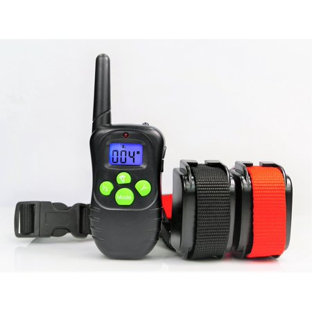 400 Yard Remote One Dog Trainer With Waterproof Rechargeable Dog Training Shock Collar  100 Adustable Shock Levels Plus Beep Tone And Vibration For Two Dog Training