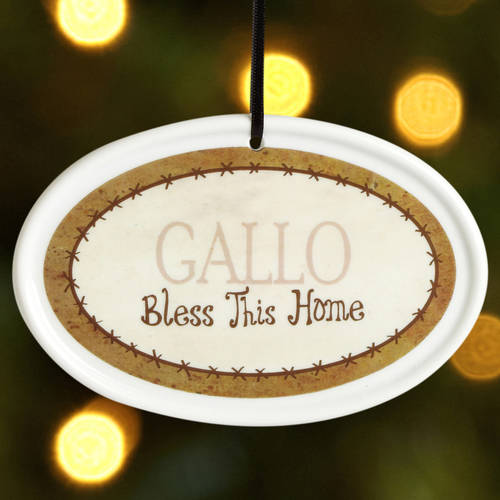 Personalized Bless This Home Christmas Ornament, Brown