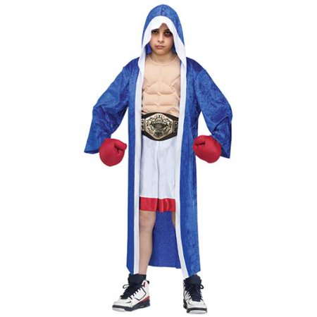 Couples Fancy Dress Costume (Lil' Champ Boxer Boys Boxing Robe Fancy Dress Halloween Costume)