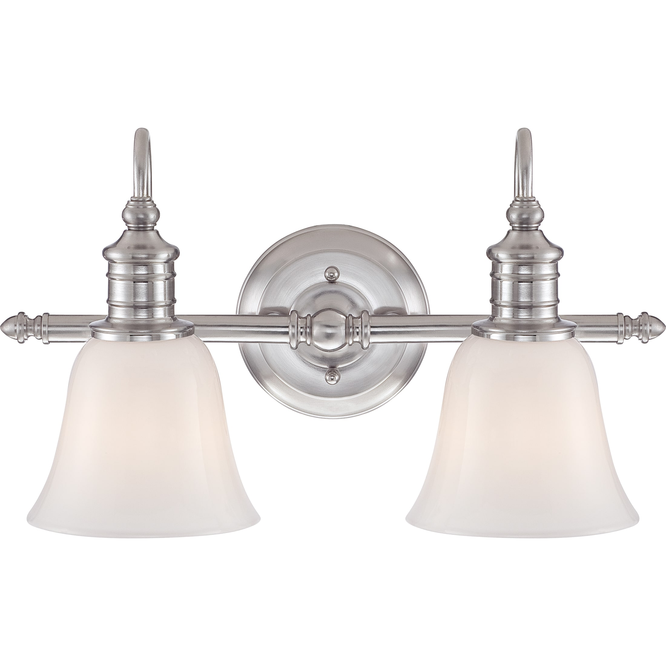 Quoizel Broadgate Brushed Nickel 2-light Bath Fixture by Overstock