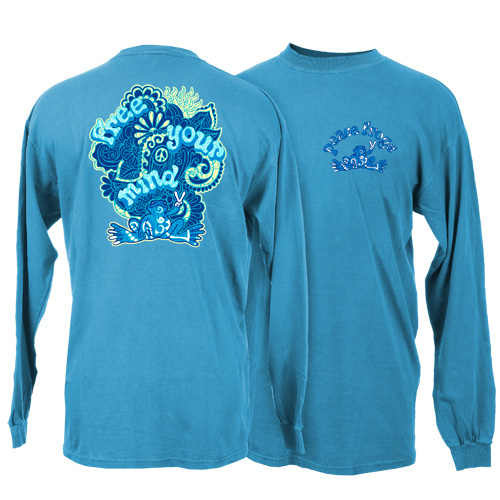 Peace Frogs Adult Free Your Mind  Long Sleeve T-Shirt