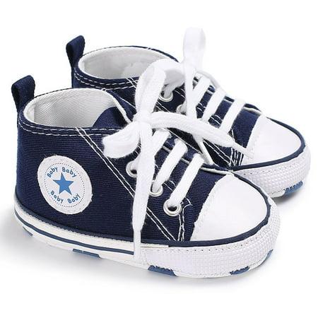 Newborn Baby Boys Girls Canvas Soft Sole Anti-slip Baby Shoes Walking Shoes - image 1 de 9