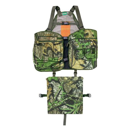 Primos Mossy Oak Camo Turkey Medium/Large Hunting Shooting Strap Vest w/ Cushion (Beretta Shooting Vest)