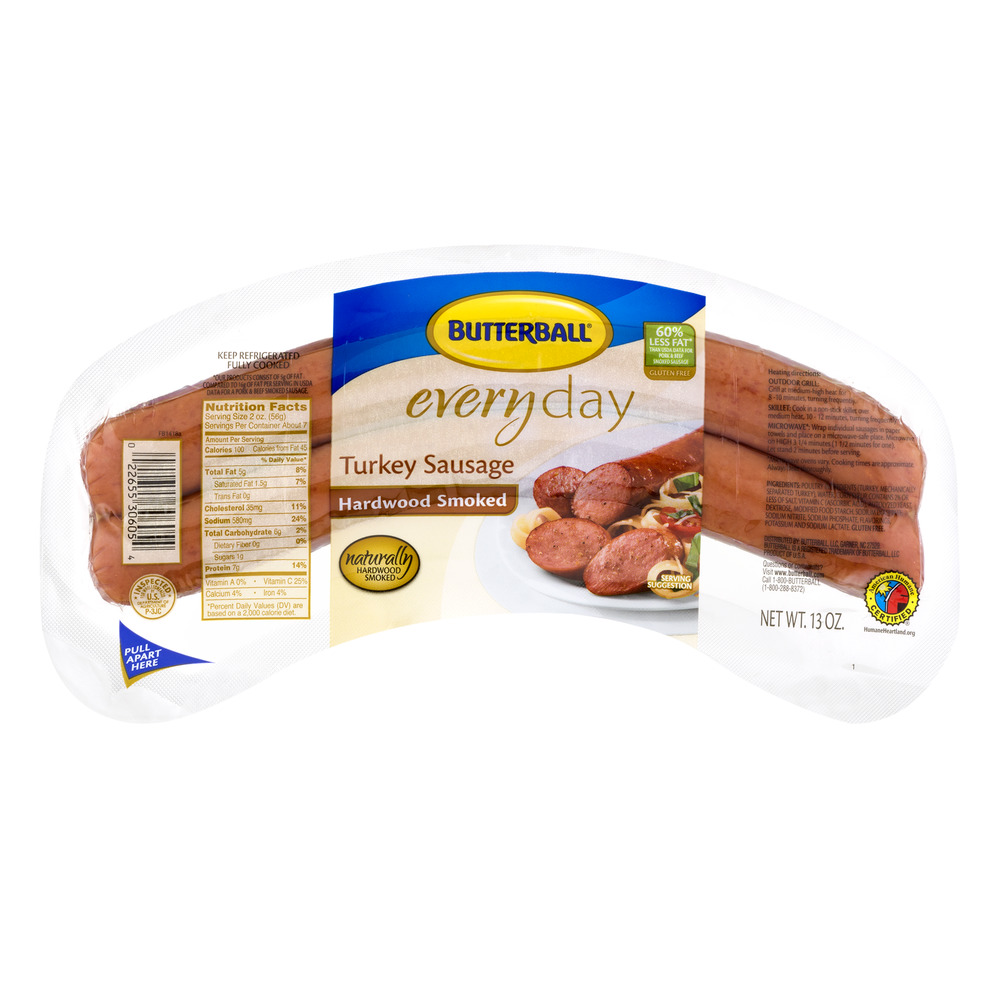 Butterball Everyday Turkey Sausage Hardwood Smoked, 13.0 OZ