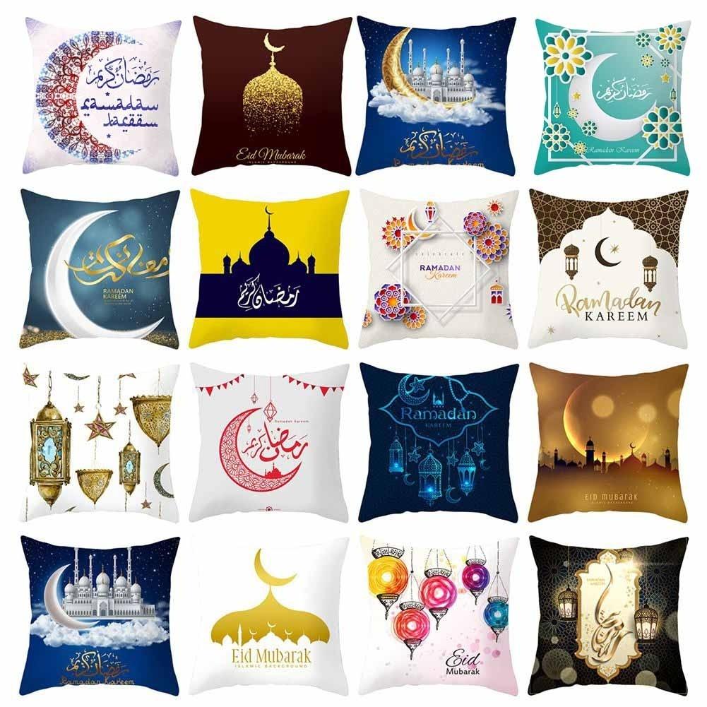 Ramadan Cushion Cover Eid mubarak Pillow Cases Polyester Pillowcase Decorative