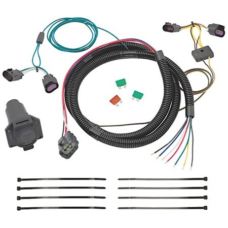 Install Wiring Harness - 08-12 Enclave/09-12 Traverse 7Way Tow Harness Wiring Package Replacement Auto Part, Easy to Install