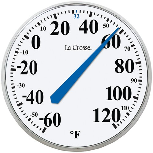 "La Crosse Technology 104-114 13.5"" Round Thermometer"