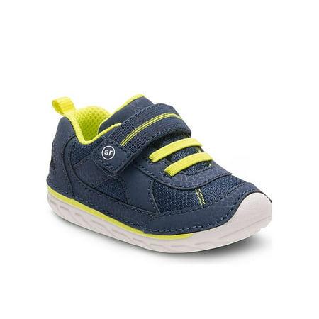 Stride Rite Jamie Boys Sneaker Shoes Navy 3 W (Stride Rite 9 W Boys)