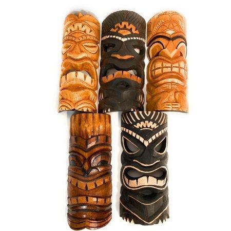 Set of 5 Tiki Masks 12
