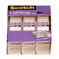 Scotch Gift Wrap Tape, 3/4 in. x 300 in., 3 Dispensers