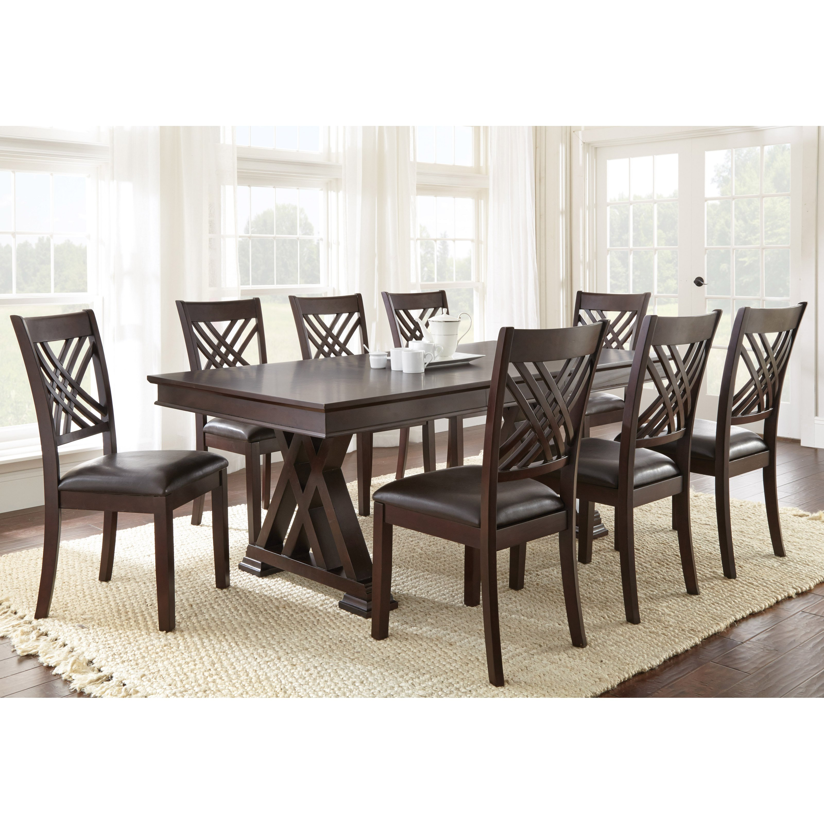 Steve Silver 9 Piece Adrian Dining Table Set by Steve Silver Co