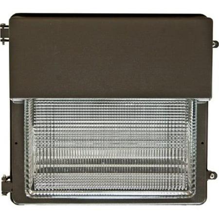 Dabmar Lighting DW1852-MT 14.75 x 15 x 9.88 in. 250 watts Large Wall Pack Fixture with Metal Halide Lamp, Bronze 175w Metal Halide Wallpack