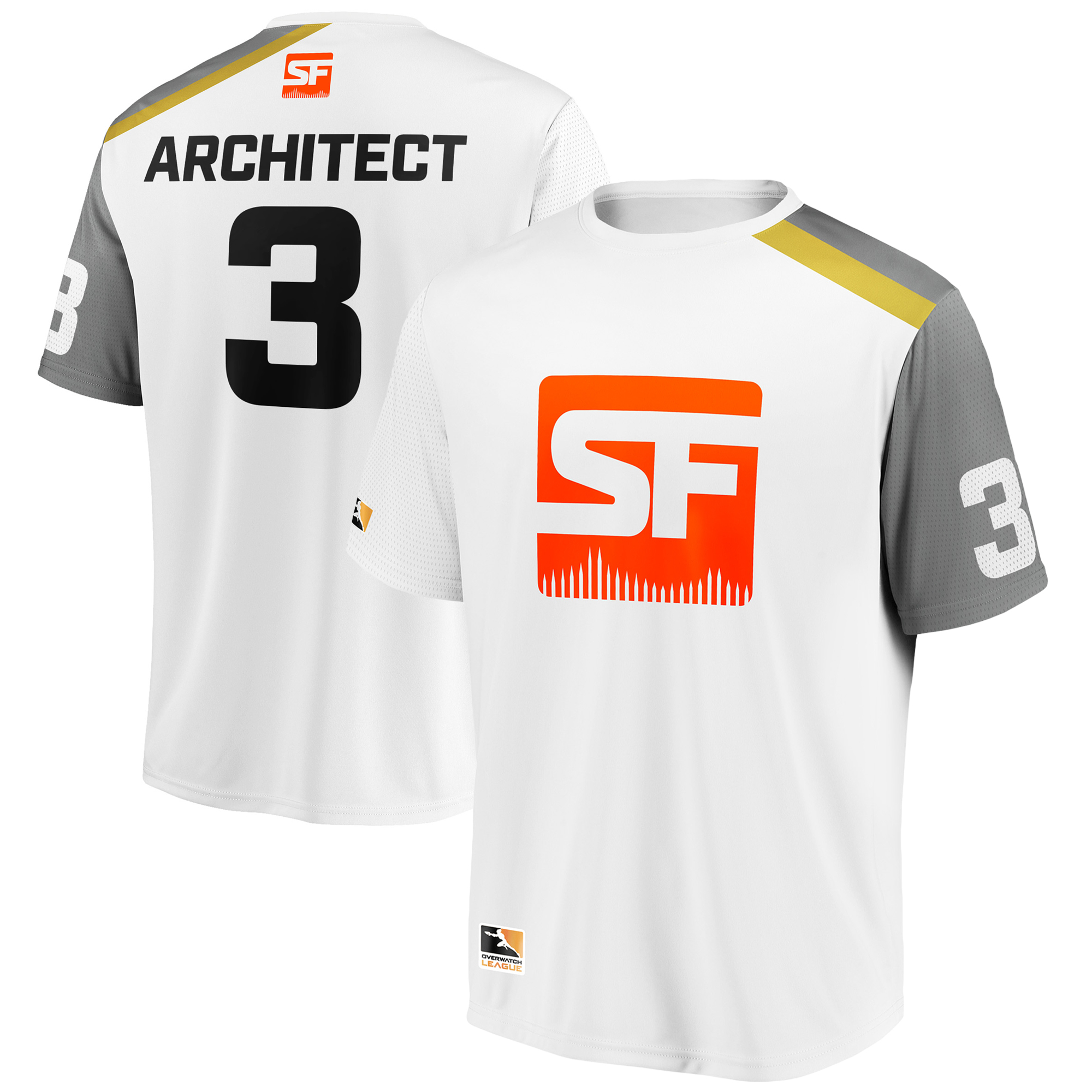 Architect San Francisco Shock Overwatch League Replica Away Jersey - White