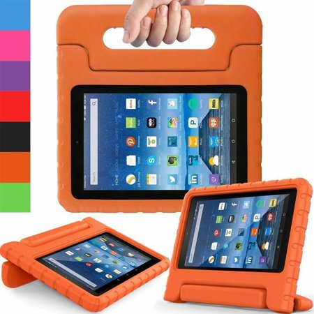 Portable Handle Case Cover For Amazon Kindle Fire HD 7 2015 Kids Shock Proof Case Purple Red Orange ()