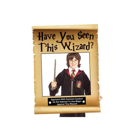 Wizard Magician Party Selfie Theme Photo Booth Prop Size 36x24 Inches Fairy Tale Legend Map Scroll Props, Magical Witch Warlock Wizardry ()
