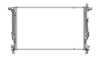 NEW RADIATOR FITS 2013-2016 DODGE DART CH3010361