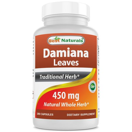 Best Naturals Damiana Leaves 450 mg 180 Capsules Damiana Leaves 100 Capsules