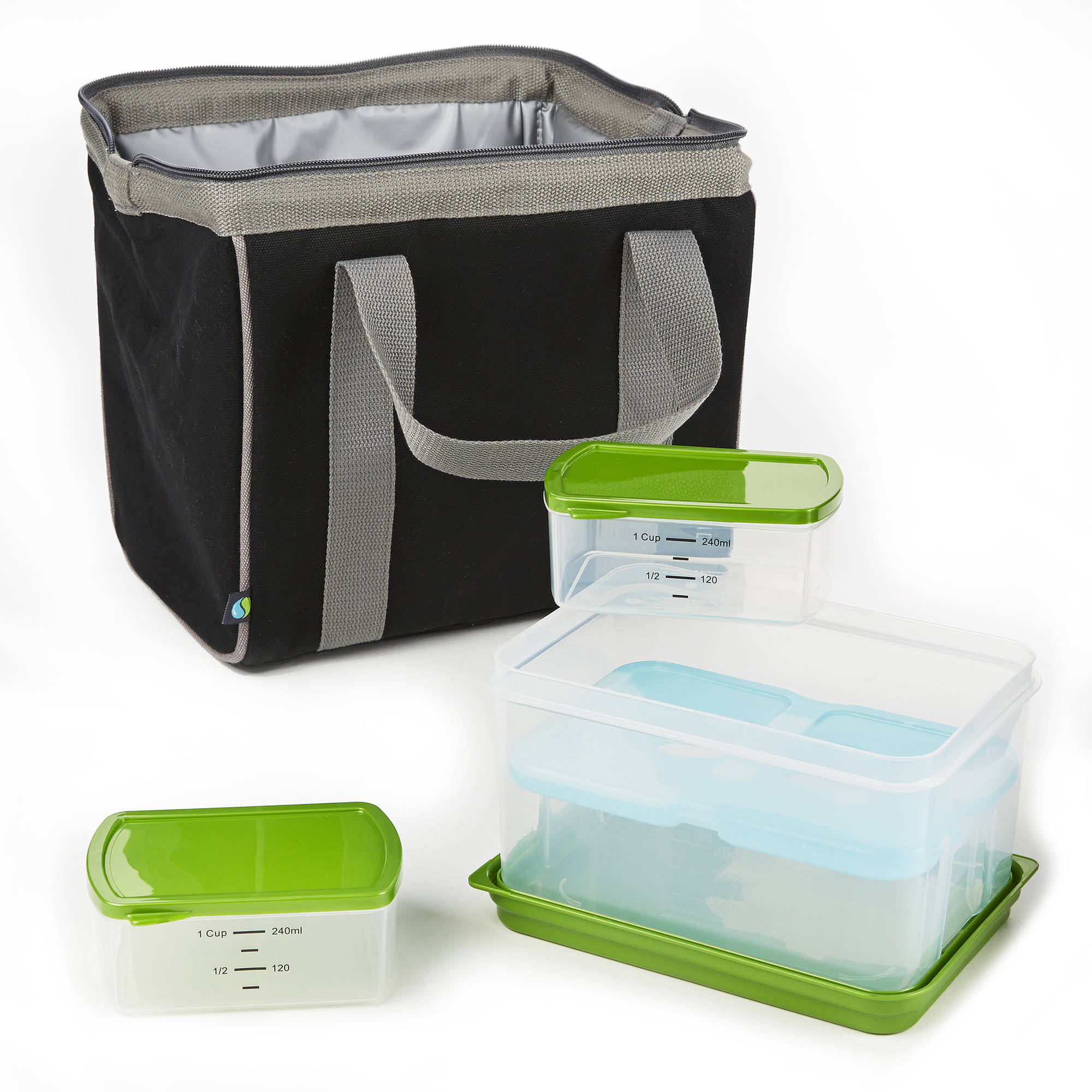 Big Phil Insulated Lunch Bag with Lunch on the Go Container Set