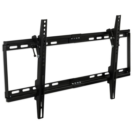 Mount-It! Slim Tilt TV Wall Mount Low Profile Bracket for LED LCD Plasma Flat Screen Panels for 32, 37, 39, 40, 42, 48, 49, 50, 51, 52, 55, 60, 65 inch TVs up to VESA 600 x 400 and 130
