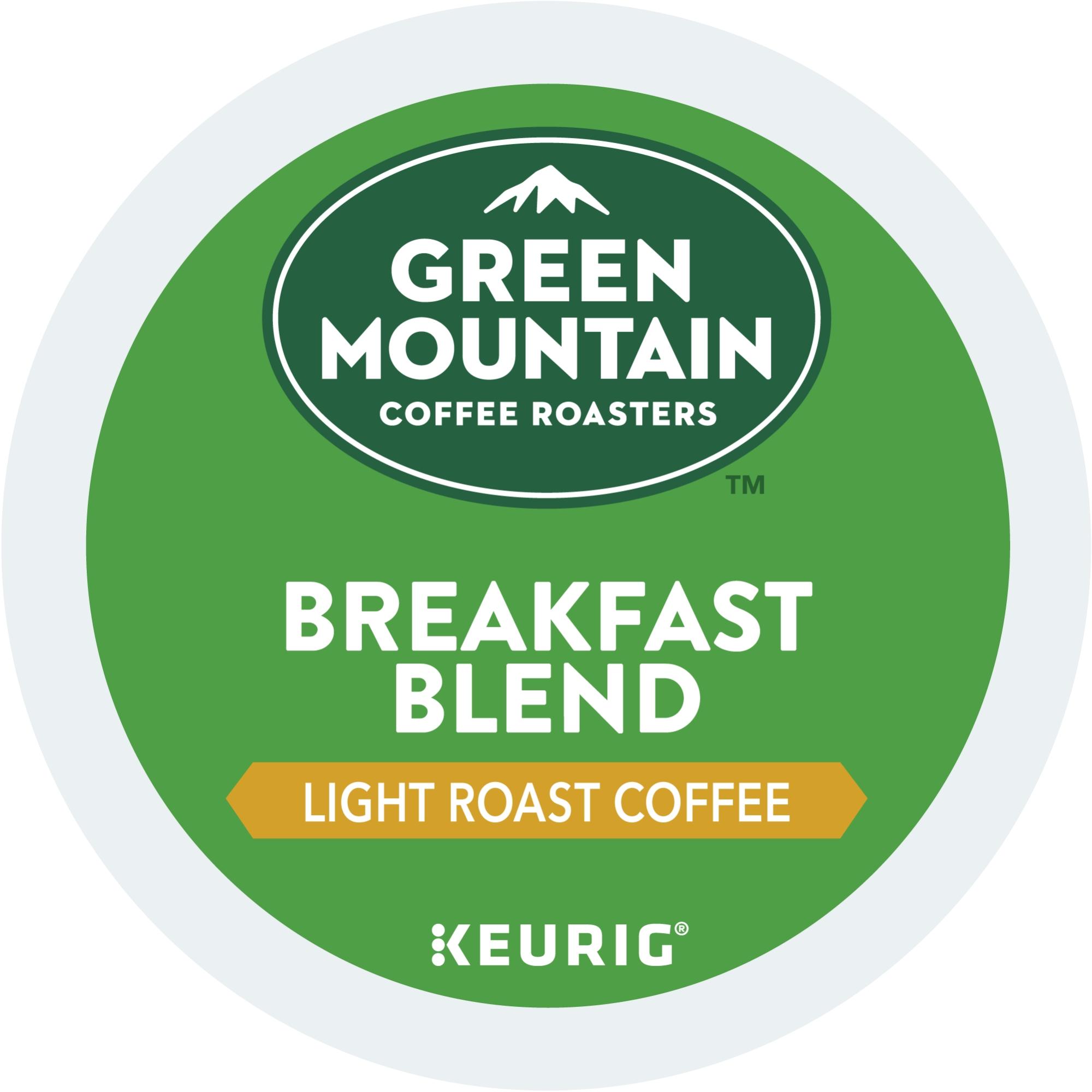 Green Mountain Coffee Breakfast Blend Single-Serve Keurig K-Cup Pods, Light Roast Coffee, 36 Count