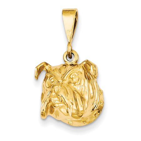 14K Yellow Gold Bulldog  26X16mm  Pendant   Charm