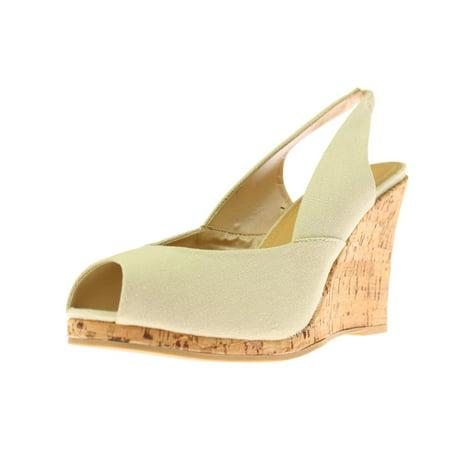 - Diba True Womens Dream Of You Canvas Cork Wedge Heels