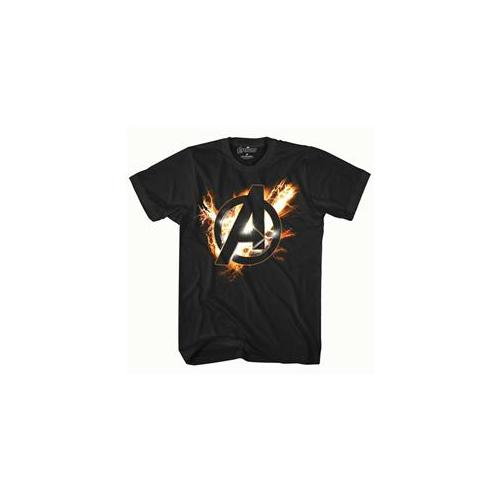 Mad Engine Inc.  The Avengers Black T-Shirt 6 - 8