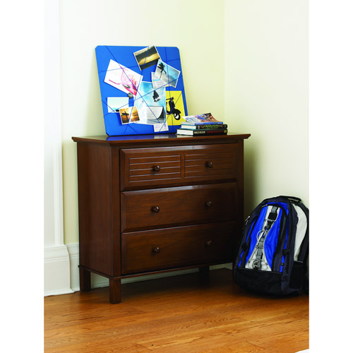 your zone zzz place to be 3-drawer dresser, walnut