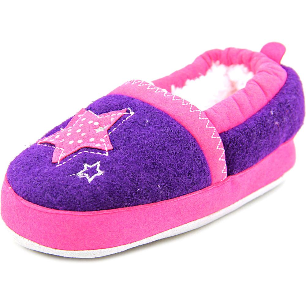 Stride Rite SRS4549 Toddler  Round Toe Canvas Purple Slipper