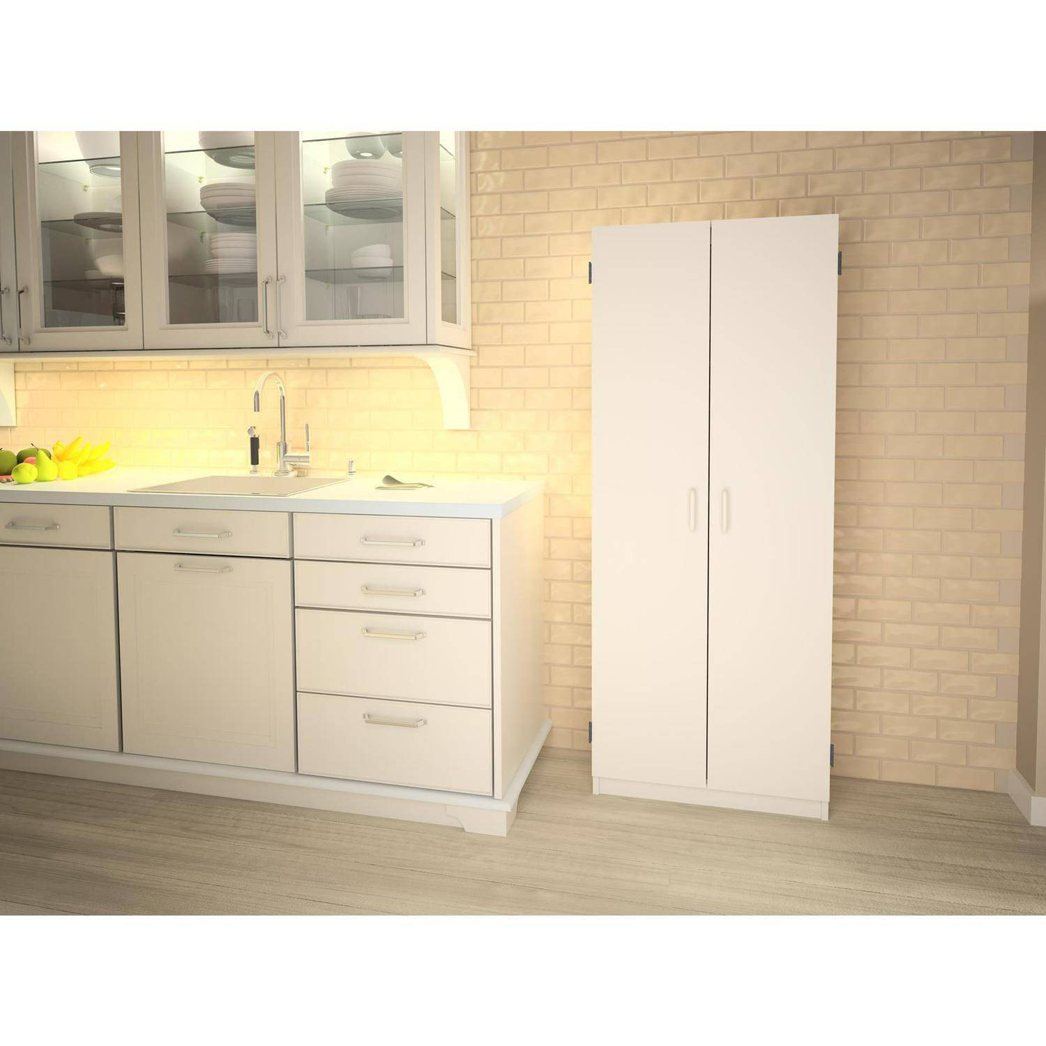 SystemBuild Flynn Double Pantry, Multiple Colors   Walmart.com