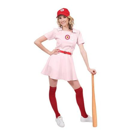 Baseball Halloween Costume Tumblr (Rockford Peaches Women's Costume Baseball)