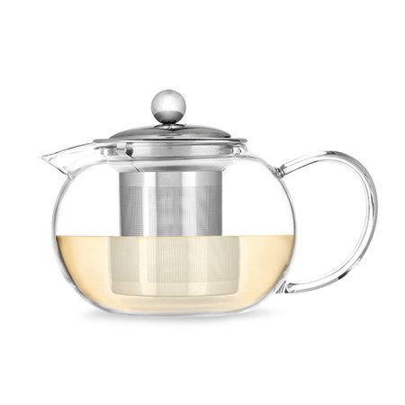 Candace Glass Teapot & Infuser by Pinky - Crystal Clear Glass Tea Pot