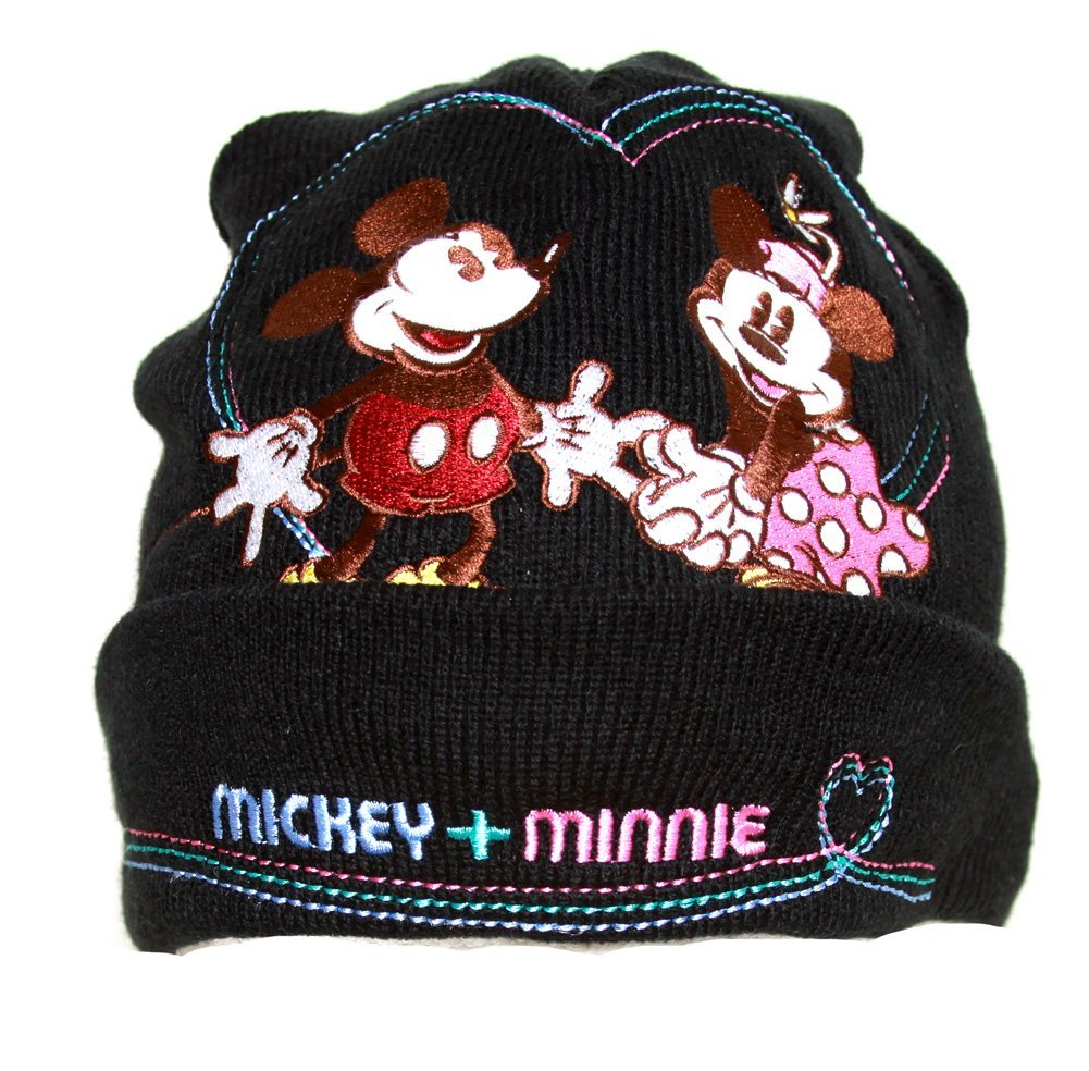 Kids Mickey and Minnie Mouse Beanie and Glove Set