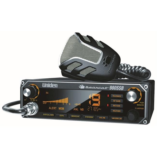 40 Channel Sideband CB Radio with 7 Color Option LCD Display, Talk-Back, Noaa Weather & Noise Canceling Microphone