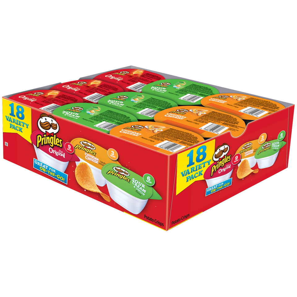 Pringles Variety Pack Potato Crisps Chips 18 ct