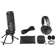 Audio Technica AT2020USB+ PLUS USB Recording Mic+Headphones+Mix Control