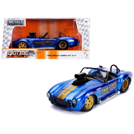 1965 Shelby Cobra 427 S/C Candy Blue w/ Gold Stripes