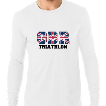 Great Britain Triathlon - Olympic Games - Rio - Flag Men's Long Sleeve (British Triathalon)