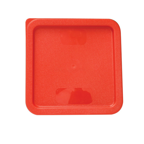 Lid For Square Polypropylene Food Storage Container Red