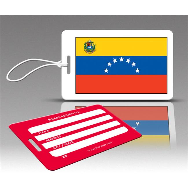 Insight Design 770596 TagCrazy Luggage Tags- Venezuela Flag- Set of Three
