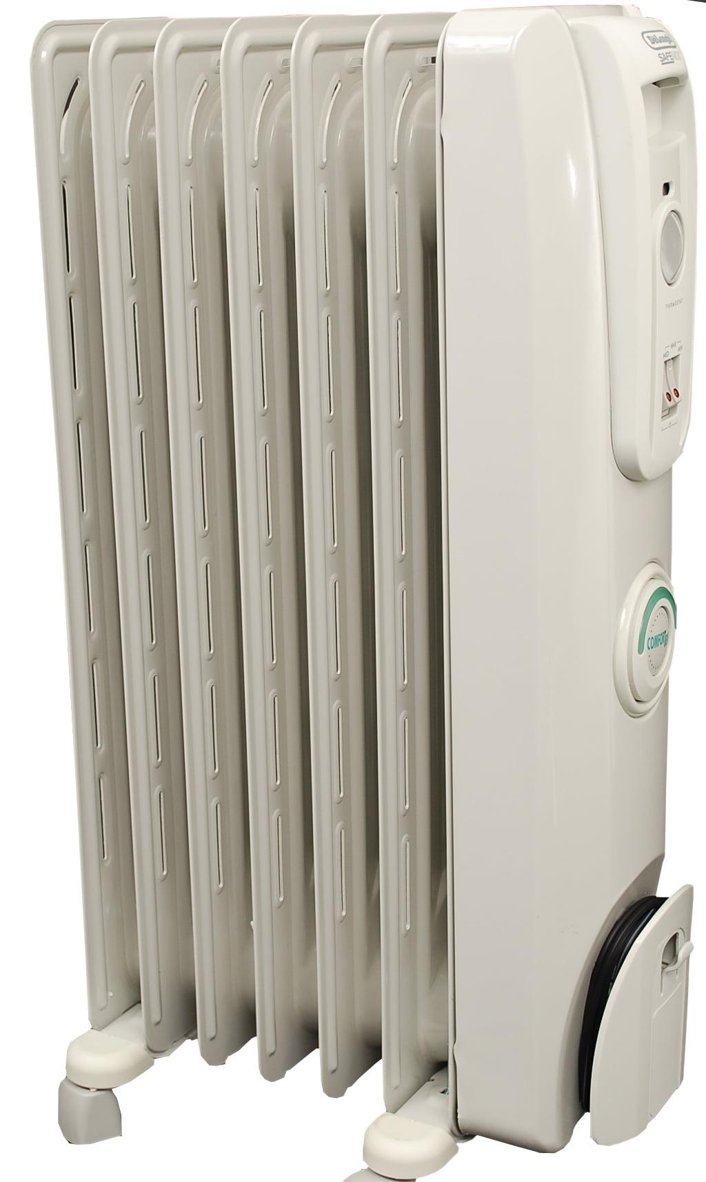 Delonghi safe heat oil filled radiator - Delonghi Safeheat 1500 Watt Comfortemp Portable Oil Filled Radiator Grey Walmart Com
