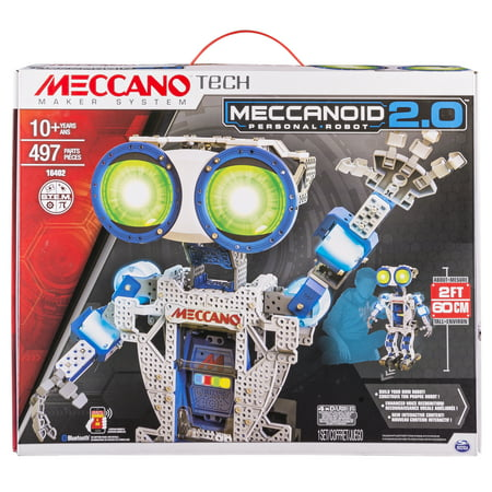 Engineering Toys For Adults (Meccano by Erector, Meccanoid 2.0 Robot-Building Kit STEM Engineering Education)