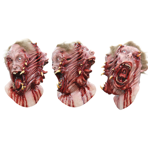 Scary Siamese Twins Split Face Costume Mask