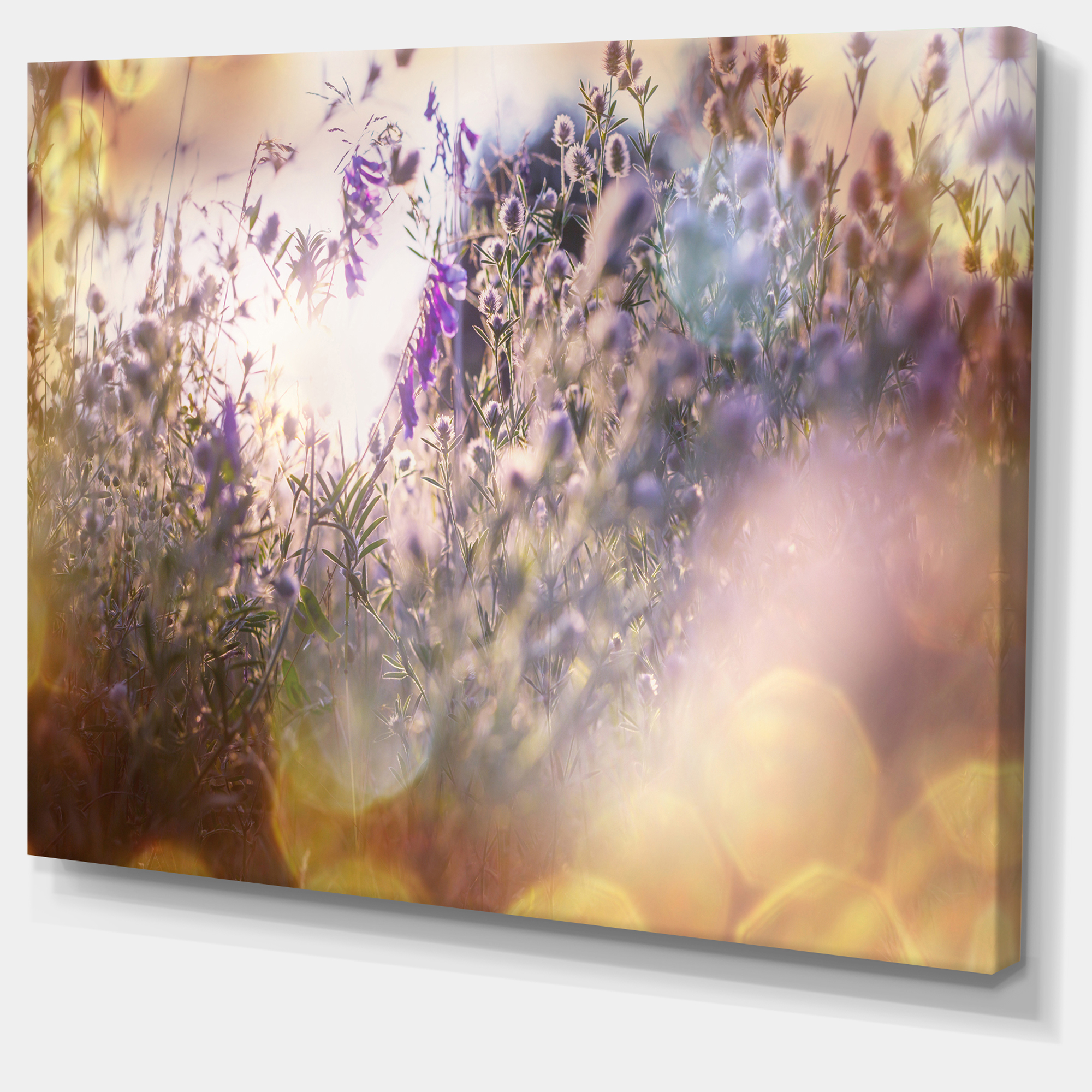 Summer Pasture with Purple Flowers - Extra Large Landscape Canvas Art - image 2 of 3