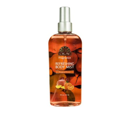 Okay Refreshing Body Mist, Tropical Fever Essence, 8 (Dodo Juice Red Mist Tropical Protection Detailer)