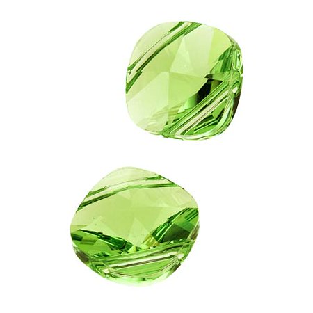 Swarovski Crystal, #5180 Square Double Hole Beads 14mm, 2 Pieces, (Double Hole Beads)