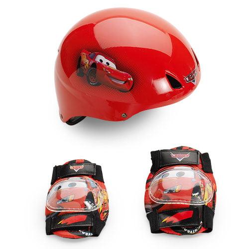 Disney Pixar Cars, Lighting McQueen Boys' Toddler Helmet and Pads Value Pack