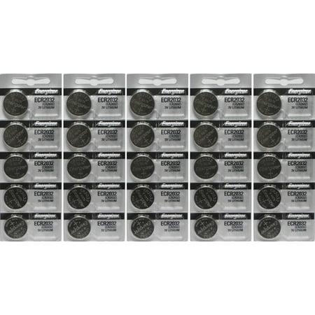 Cr2032 Pack (25 Energizer 2032 Battery CR2032 Lithium 3v (5 Packs of 5) )